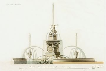 Picture of Acrylic-Velazquez Fountain Elevation II