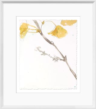 Picture of Ginkgo On Dusty Teal VI