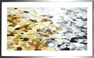 Picture of Lily Pond Reflections  - Gilded