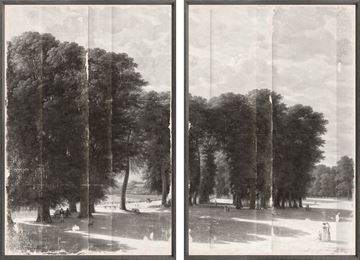 Picture of Grisaille Landscape Diptych