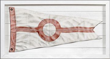 Picture of Yachting Burgee - Red Circle