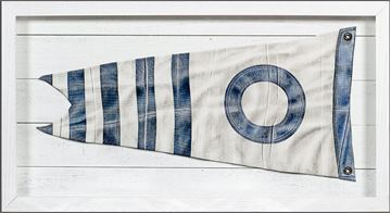 Picture of Yachting Burgee - Blue Stripe