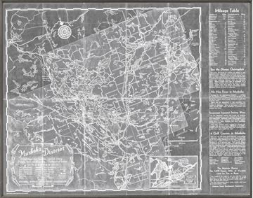 Picture of Muskoka District Map - Grey