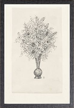 Picture of Collection 12 - Gestel, Vase/Flowers  - 1900