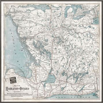 Picture of Map - Highlands of Ontario