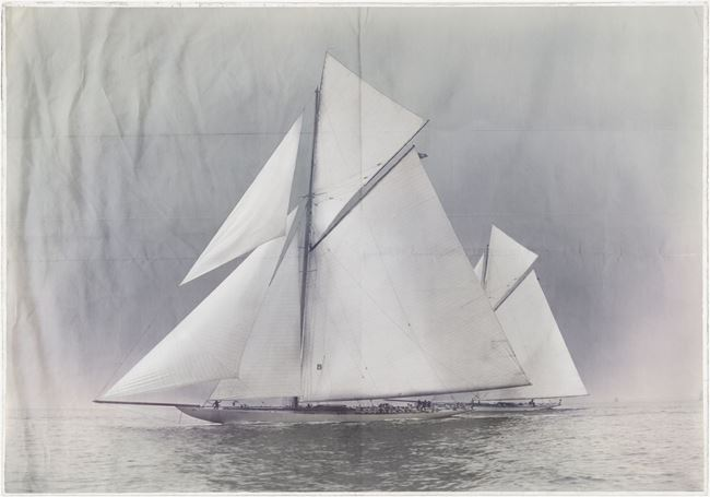 Picture of Acrylic - Indigo Stained - Yachts Constitution & Columbia