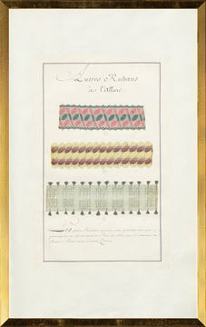Picture of French Fabric Samplers III, 1735