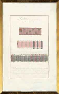 Picture of French Fabric Samplers VIII, 1735