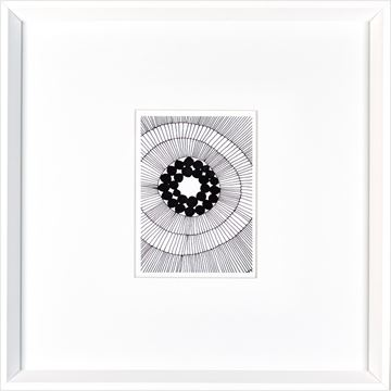 Picture of String Abstract  - White