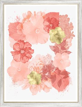 Picture of Coral Floral Overlay I - Large