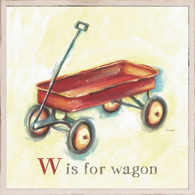 Picture of Kids - W Is For Wagon - Framed on Board
