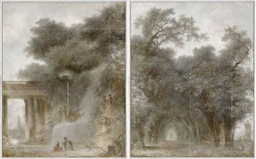 Picture of Fragonard - Diptych - Framed Canvas