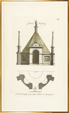 Picture of Engraving - Garden Building, 1778 - Large