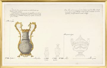 Picture of 18th Century Vase Design II - Gold - Large