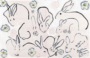 Picture of Lapins, Lapins - Gallery Wrap Canvas
