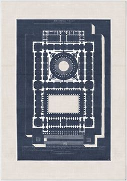 Picture of French Architectural Views III - Framed Canvas
