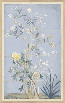Picture of Chinoiserie Scenic, Blue Hue I - Small