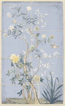 Picture of Chinoiserie Scenic, Blue Hue I - Gallery Wrap Canvas