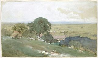Picture of Olive Trees at Tivoli C. 1873 - Framed Canvas