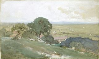 Picture of Olive Trees at Tivoli C. 1873 - Gallery Wrap Canvas