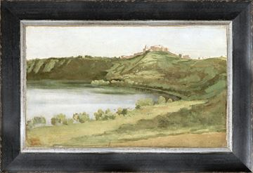 Picture of Petite Scapes - Lake Albano and Castel Gandolfo C. 1826