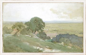 Picture of Petite Scapes - Olive Trees at Tivoli C. 1873