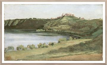 Picture of Lake Albano and Castel Gandolfo C. 1826