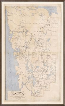 Picture of Map - Muskoka & Parry Sound - 1879