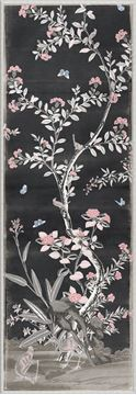 Picture of Chinoiserie Panel I C. 1890 - Charcoal - Large