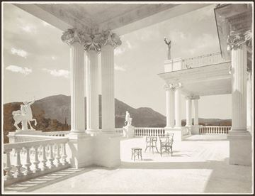Picture of Palace Achilleion Corfu C. 1895 - Framed Canvas
