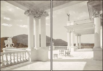 Picture of Palace Achilleion Corfu C. 1895 - Diptych - Framed Canvas