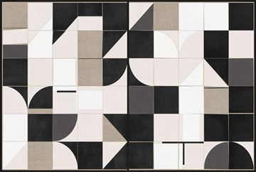 Picture of Linen Geometrics - Framed Canvas - 2 in 1