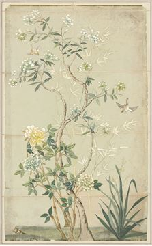 Picture of Chinoiserie Scenic I - Framed Canvas