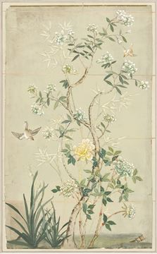 Picture of Chinoiserie Scenic II - Framed Canvas