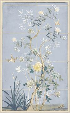 Picture of Chinoiserie Scenic, Blue Hue II - Framed Canvas